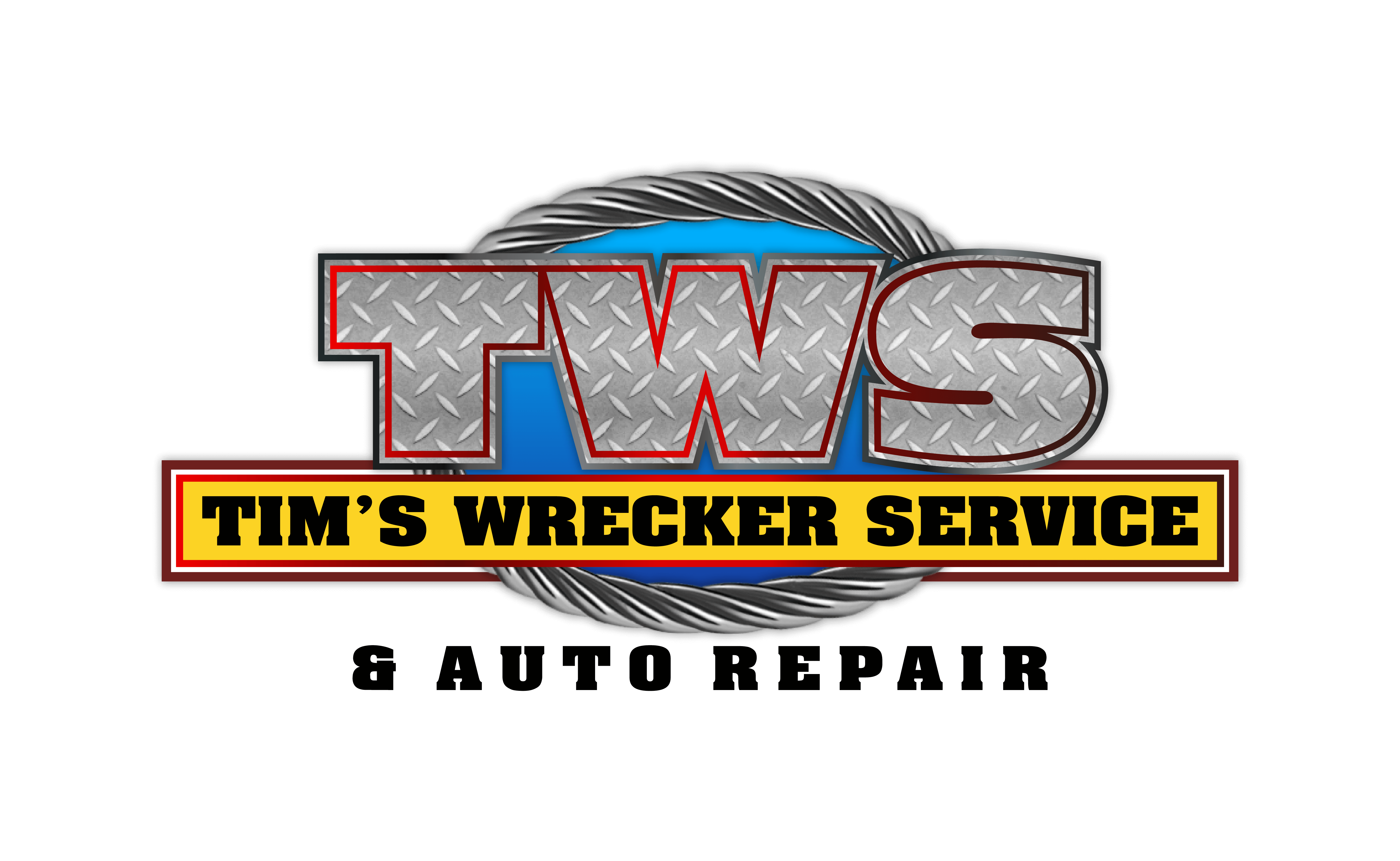 Tim's Wrecker Service & Auto Repair Garage Logo