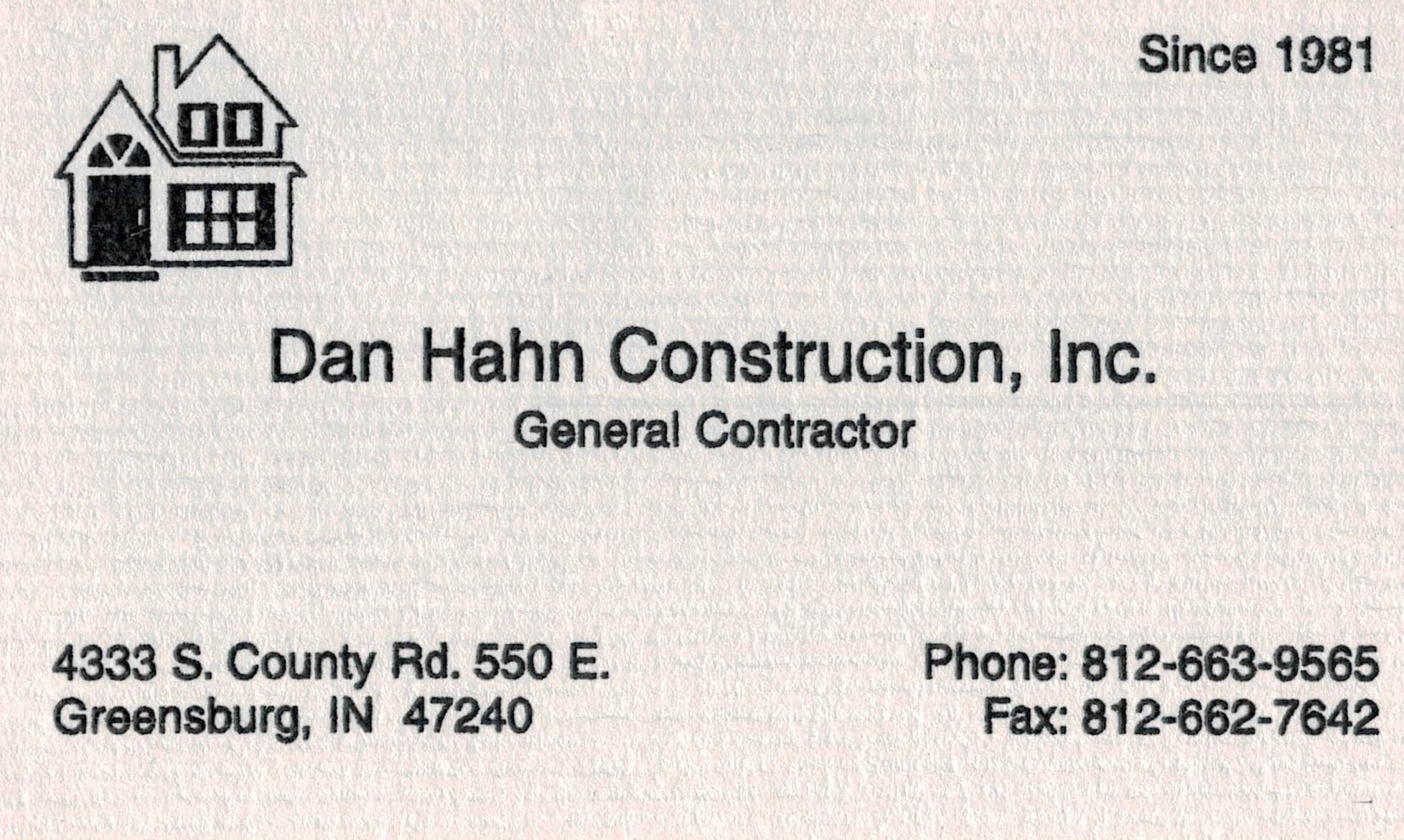 Dan Hahn Construction Inc Logo